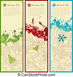 Christmas banners - set of three christmas banners with...