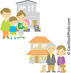Family, home, house, vector