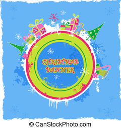 Colored christmas banner - cute candy-colored christmas...