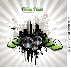 Urban party design element - urban party design element with...