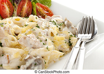 Chicken Penne Pasta - Delicious creamy chicken penne pasta...