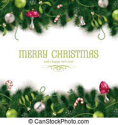 Holiday background - Christmas background or greeting card...