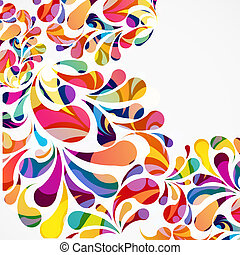 Rounded colorful arc drops Decorative abstract background
