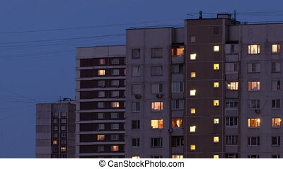 Buildings at night 2