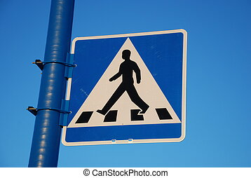 Crosswalk - Swedish crosswalk sign.