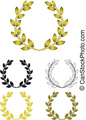 Laurel-Wreath - Vectorgraphic of a classical golden...