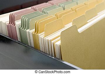 Index Cards Closeup - Closeup of an opened box of index...