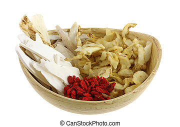 Traditional Chinese herbal tea soup - A bowl of Traditional...
