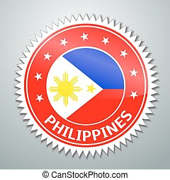 Philippine flag label - Vector flag label series -...
