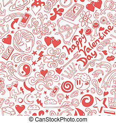 Love,Valentine Day - doodles collection