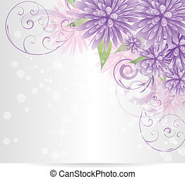 Floral background with abstract flowers