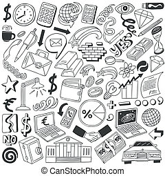 Business doodles collection