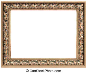 rectangular gold carved frame for a mirror or a picture