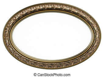 Classic oval picture frame