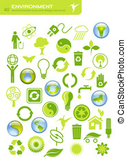 Environmental conservation - environmental buttons and...
