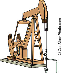 Oil drilling rig , vector illustration