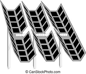 illustration of a solar cell module