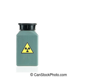 radioactive isotope sample - white background with a small...