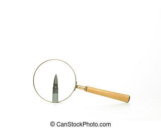 Analizar, bala, por, Aumentar, vidrio