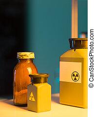 tóxico, desperdicio, contenedores
