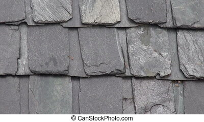 slate stone roof in Himalayas, Dharamsala, India