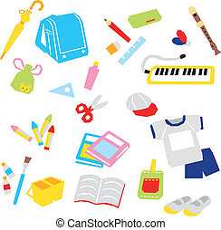School supplies - school supplies, vector