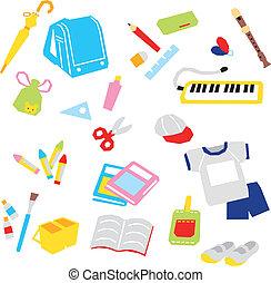School supplies - school supplies, vector
