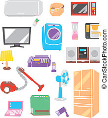 Electric appliances, vector