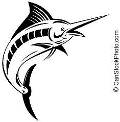 Blue marlin  - Illustration of a blue marlin fish