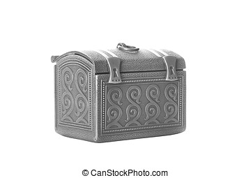 Toy chest. Isolated over white.