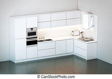 Luxury White Kitchen in Minimalist