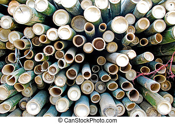 pile of bamboo in storage