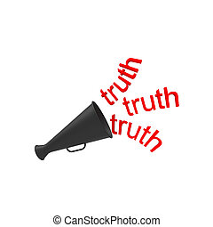 Truth - Abstract speaking trumpet, background design,...
