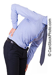 Businessman with aching back.