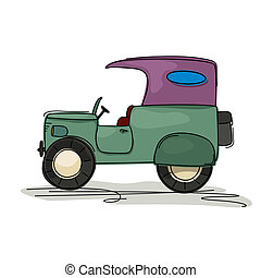 Vintage jeep cartoon