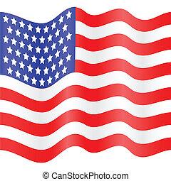 flag USA - american flag of vector