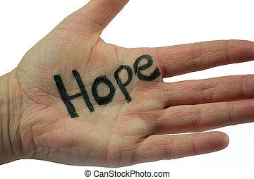 mão, esperança
