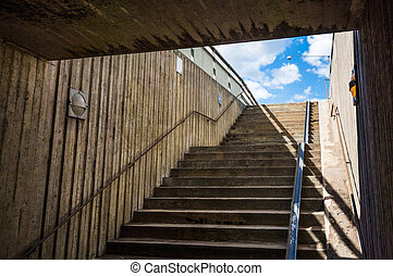 Underground staircase - An undeground staircase up to...