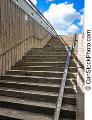 Stairs from underground - Stairscase in an urban environment