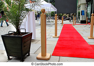 Red carpet and building - Red carpet and doors