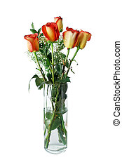 Yellow Red Roses - An arrangement of yellow and red roses in...