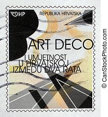 CROATIA - CIRCA 2011: A stamp printed in Croatia shows...