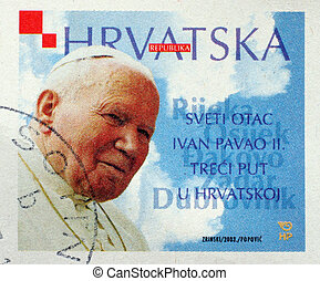 CROATIA - CIRCA 2003: A stamp printed in Croatia dedicated...