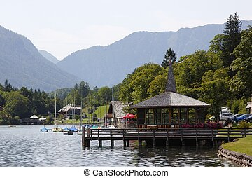 Austria restaurant and lake - Austria the restaurant on the...