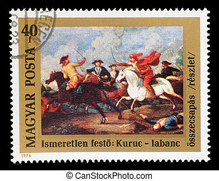 Stamp printed in Hungary