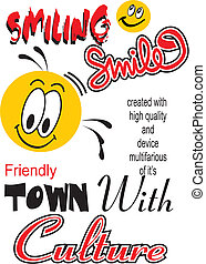 design art vector images - vector images yellow smiles