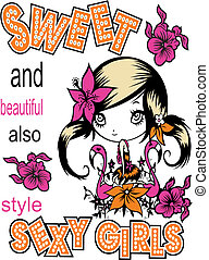 design art vector images - vector images little girl