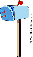 detailed isolated vector mailbox