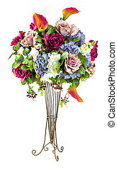 Bouquet of flowers in glass vase - Bouquet of roses...