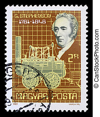 HUNGARY - CIRCA 1981: stamp printed by Hungary, shows George...
